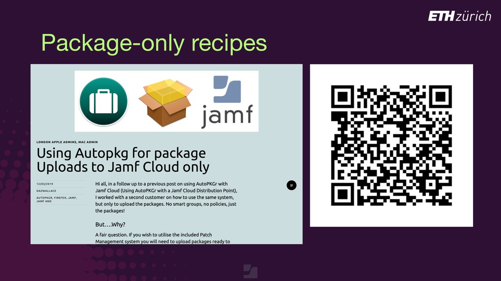 Package-only recipes