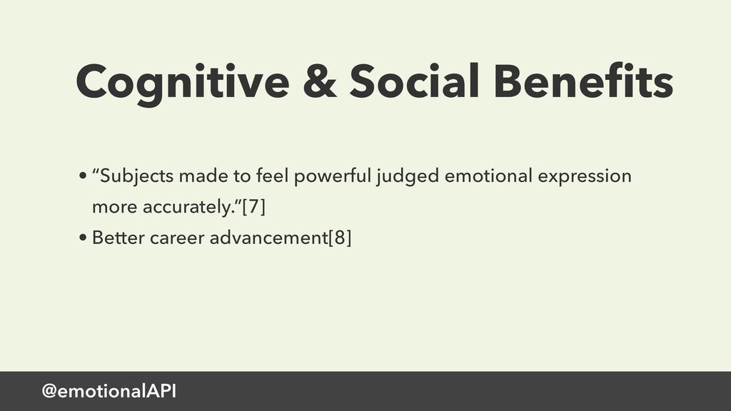 "@emotionalAPI Cognitive & Social Benefits • ""Sub..."