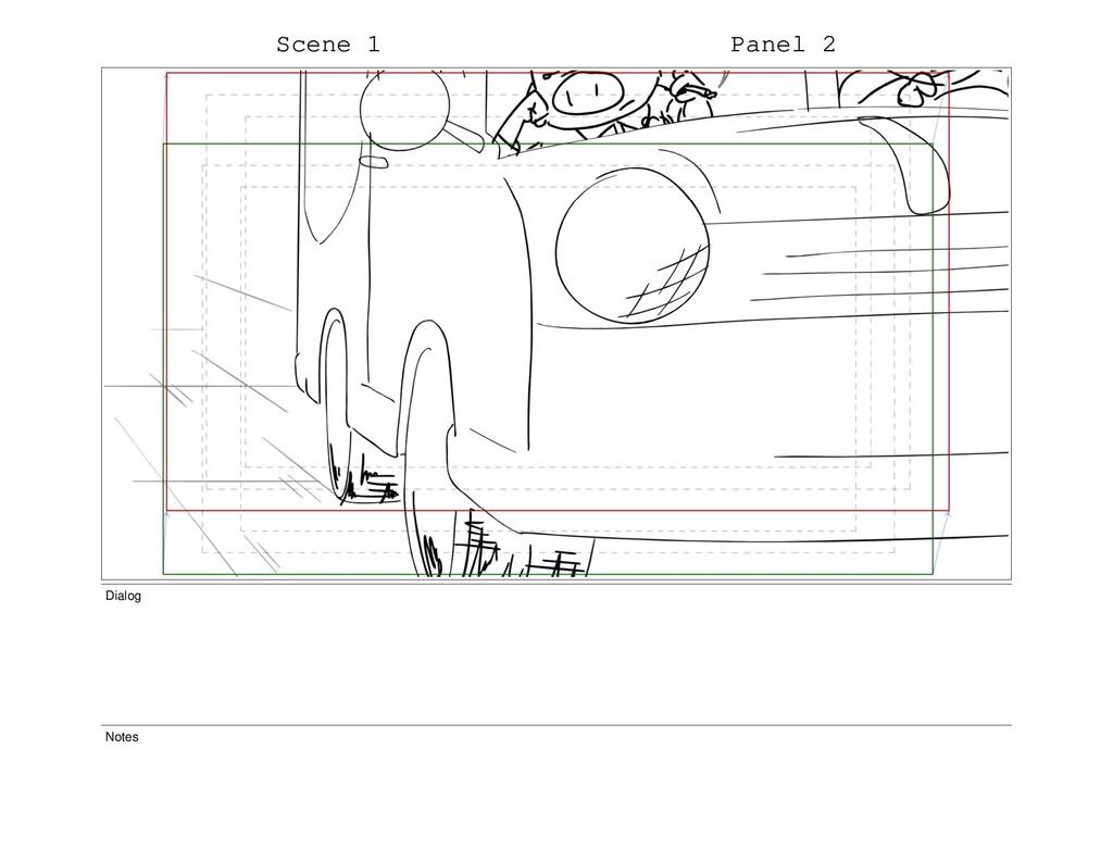 Scene 1 Panel 2 Dialog Notes