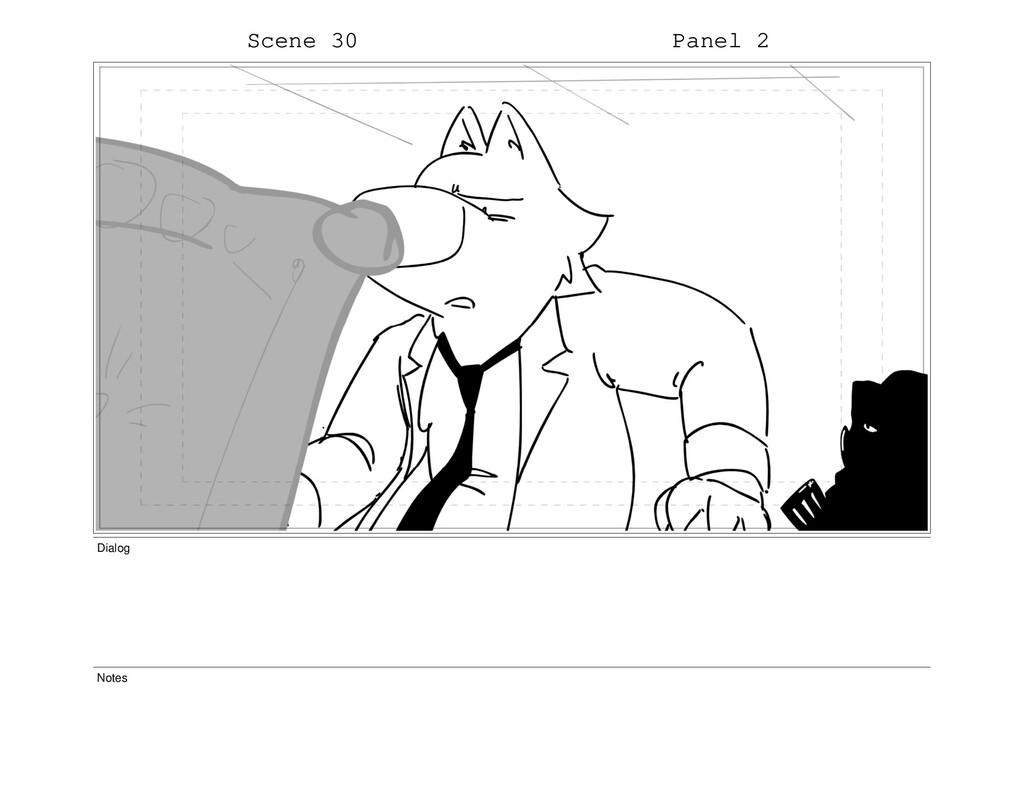 Scene 30 Panel 2 Dialog Notes