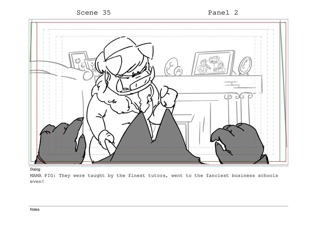 Scene 35 Panel 2 Dialog MAMA PIG: They were tau...
