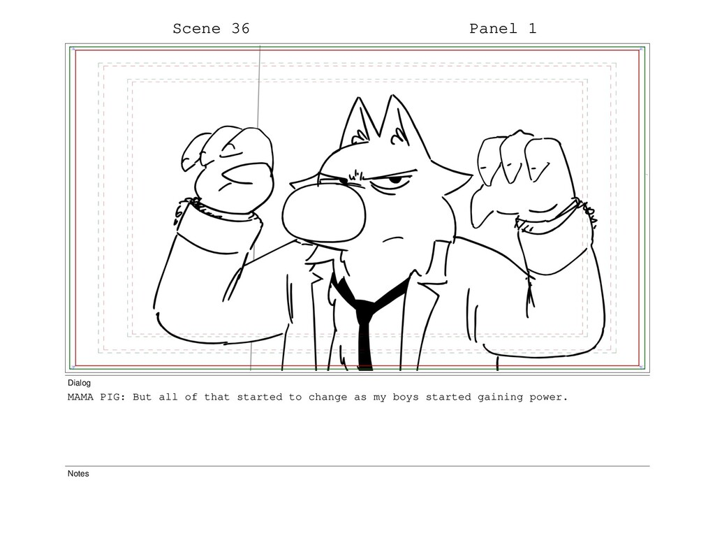 Scene 36 Panel 1 Dialog MAMA PIG: But all of th...