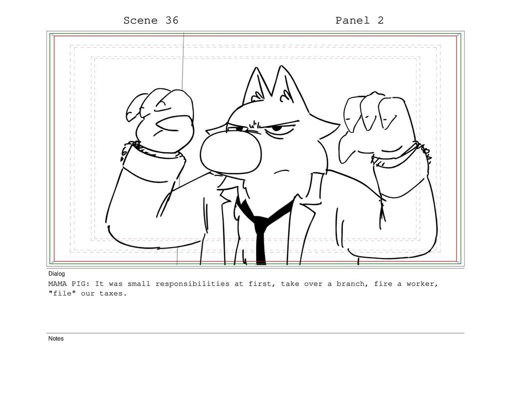Scene 36 Panel 2 Dialog MAMA PIG: It was small ...