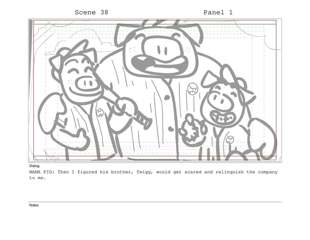 Scene 38 Panel 1 Dialog MAMA PIG: Then I figure...