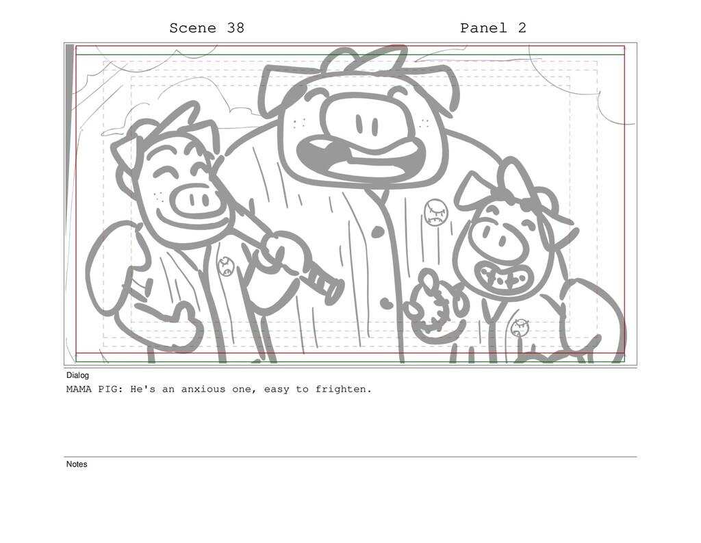 Scene 38 Panel 2 Dialog MAMA PIG: He's an anxio...
