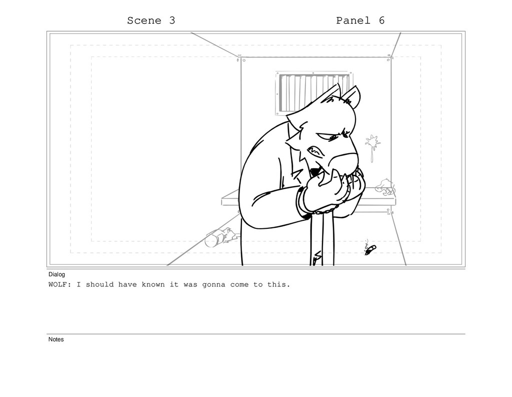 Scene 3 Panel 6 Dialog WOLF: I should have know...