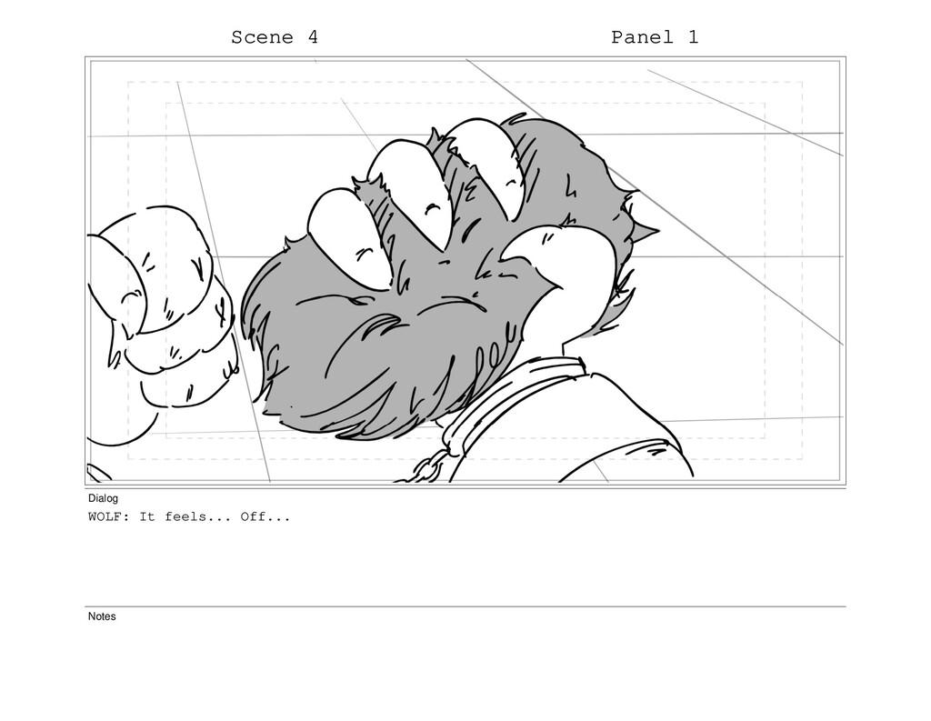 Scene 4 Panel 1 Dialog WOLF: It feels... Off......