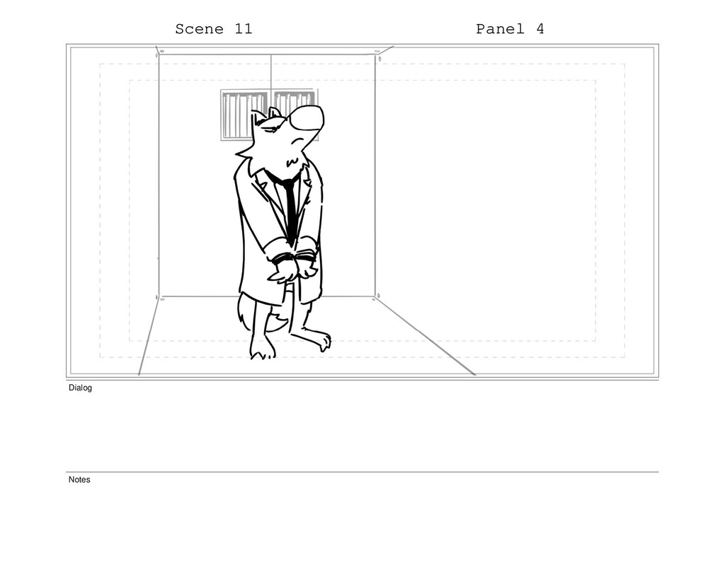 Scene 11 Panel 4 Dialog Notes
