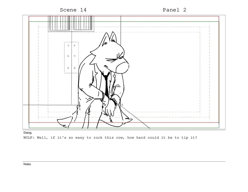 Scene 14 Panel 2 Dialog WOLF: Well, if it's so ...