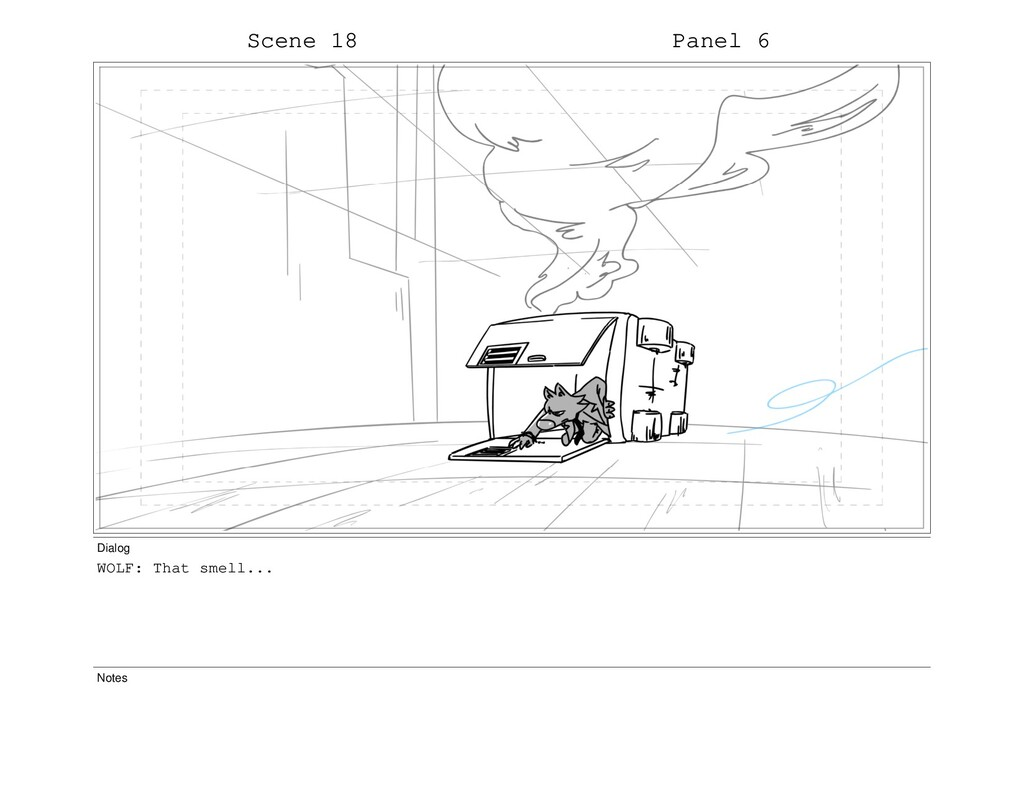 Scene 18 Panel 6 Dialog WOLF: That smell... Not...