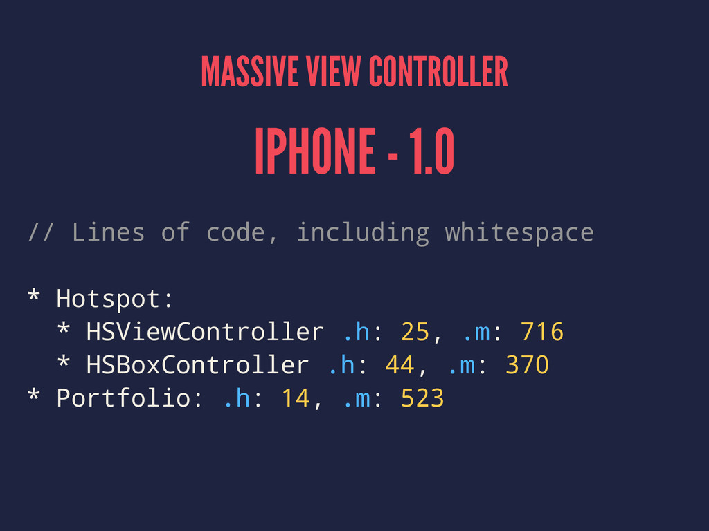 MASSIVE VIEW CONTROLLER IPHONE - 1.0 // Lines o...