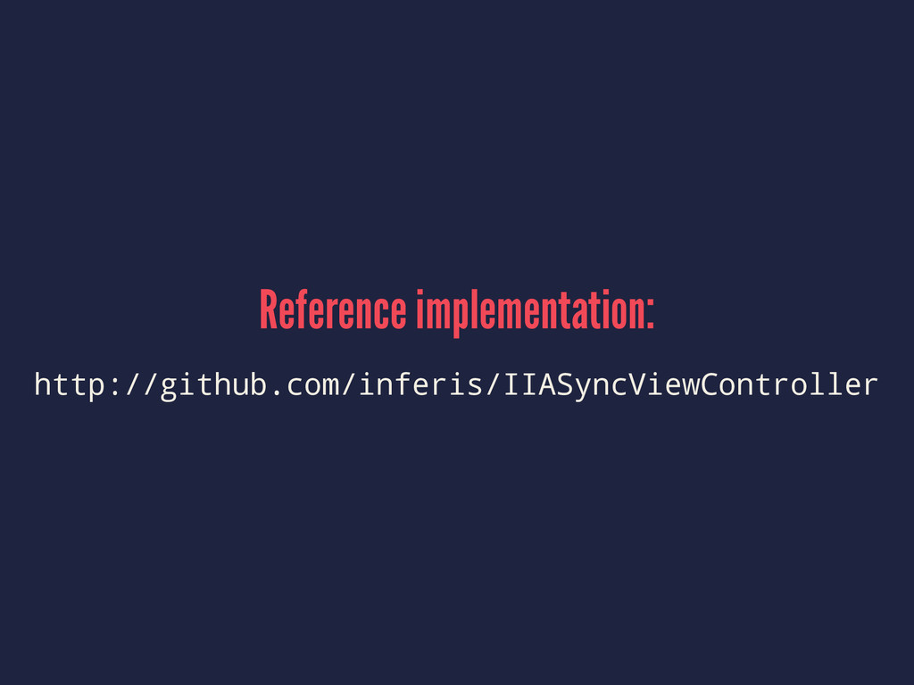 Reference implementation: http://github.com/inf...