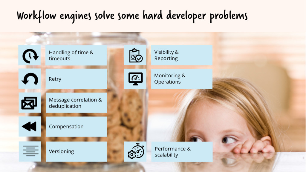 Workflow engines solve some hard developer prob...