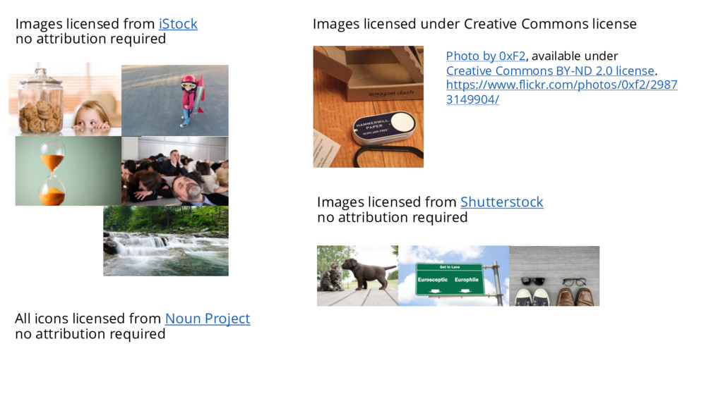Images licensed from iStock no attribution requ...