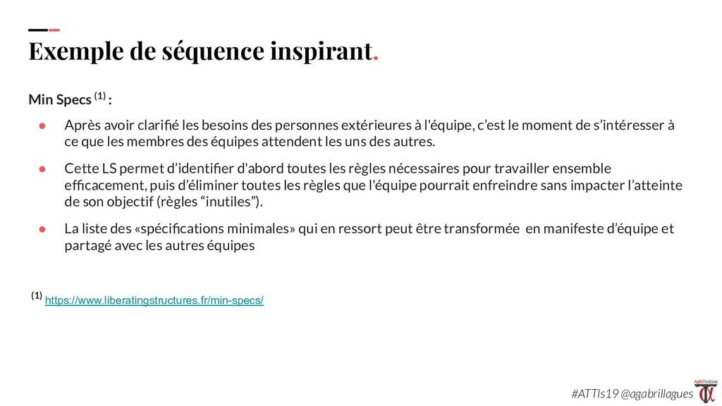 110. Exemple de séquence inspirant. Min Specs (...