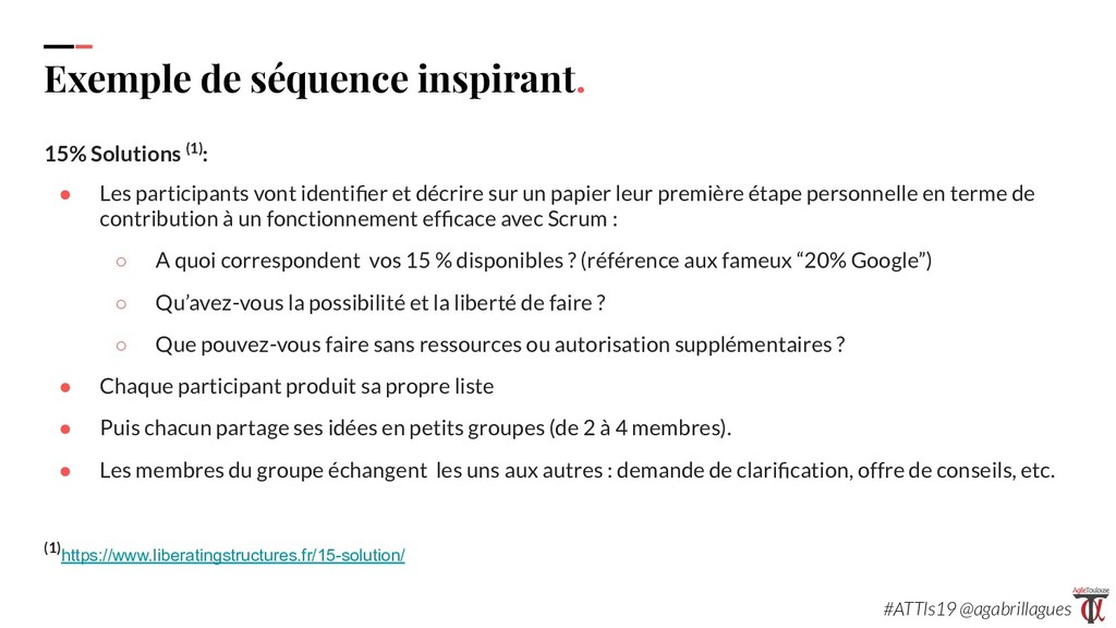 111. Exemple de séquence inspirant. 15% Solutio...