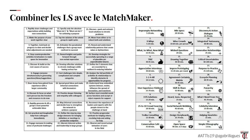 100 Combiner les LS avec le MatchMaker. #ATTls1...