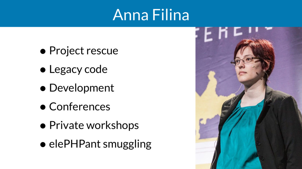 Anna Filina • Project rescue • Legacy code • De...
