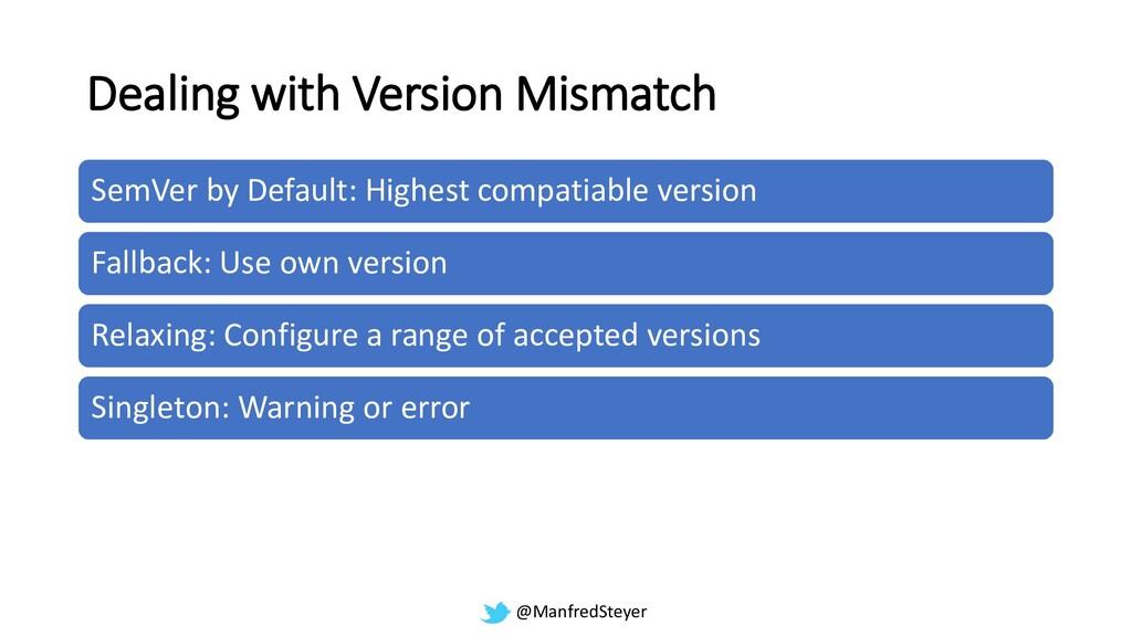 @ManfredSteyer Dealing with Version Mismatch Se...