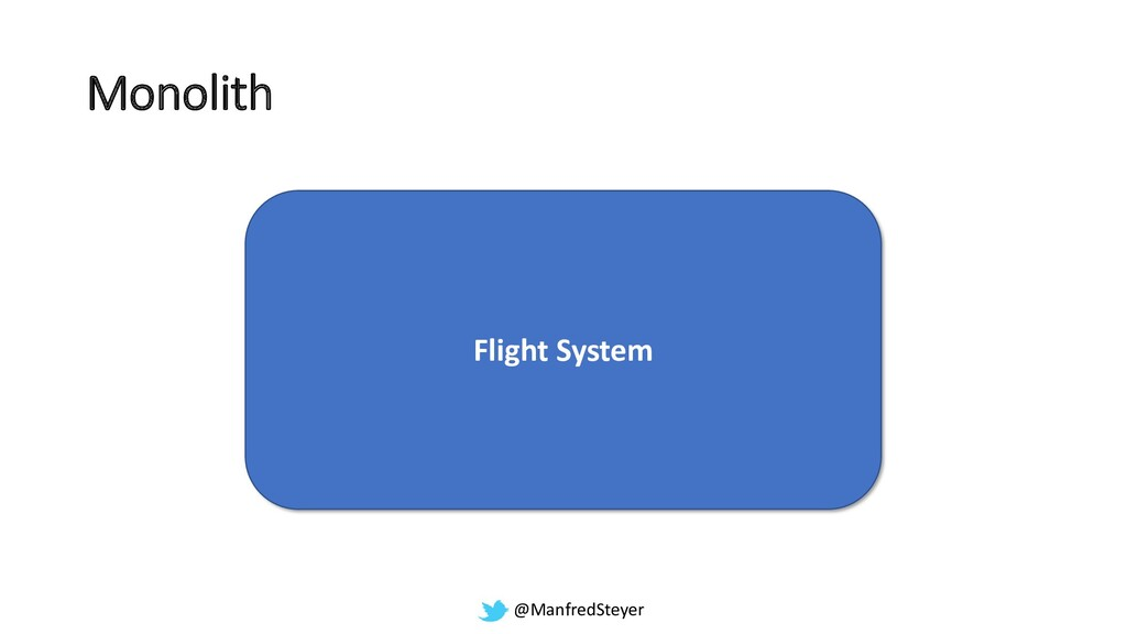 @ManfredSteyer Monolith Flight System