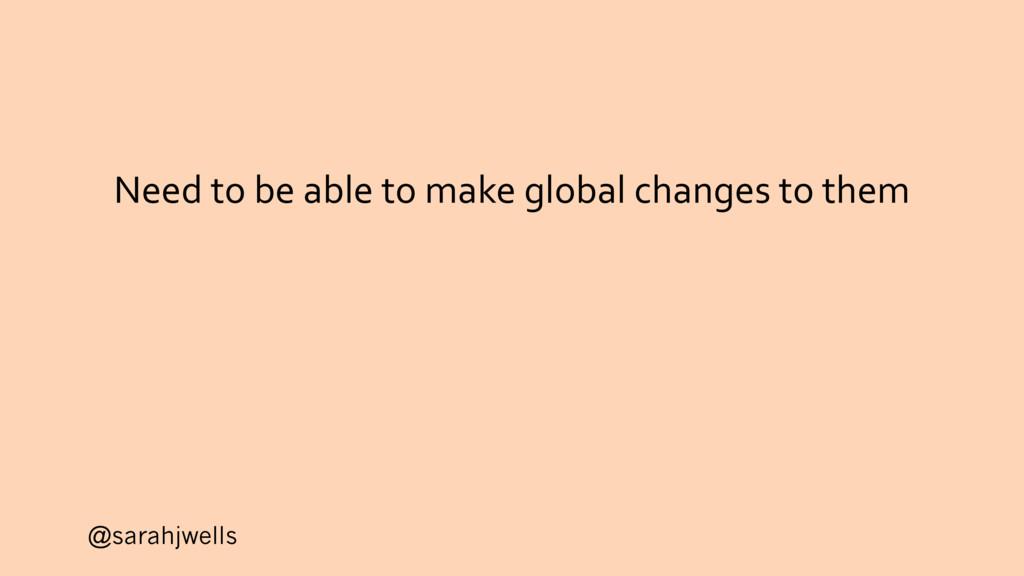 @sarahjwells Need to be able to make global cha...