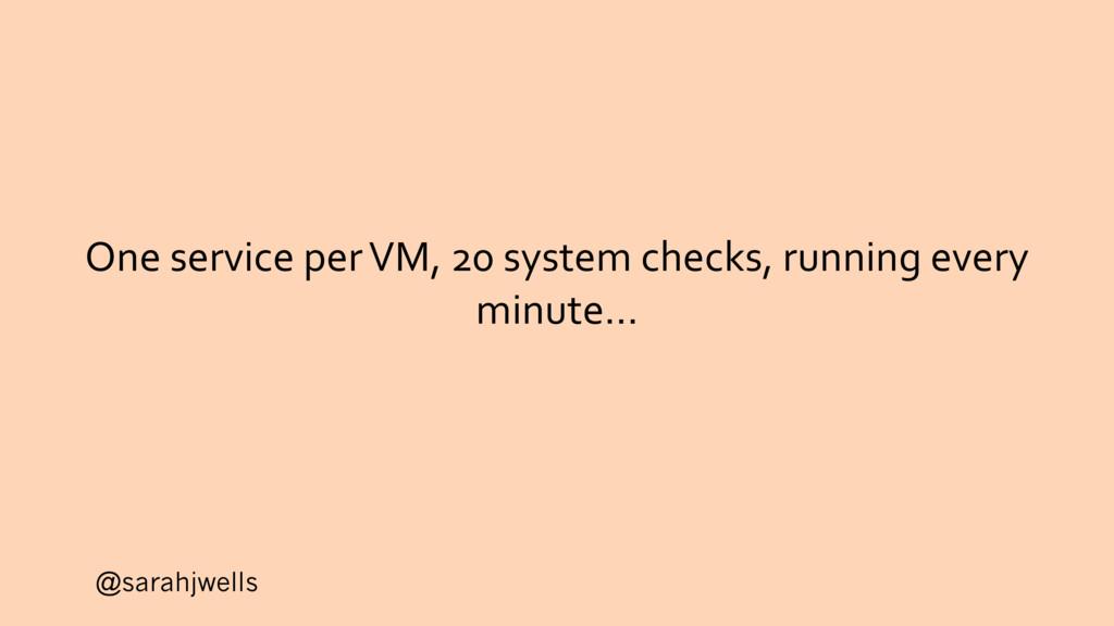 @sarahjwells One service per VM, 20 system chec...