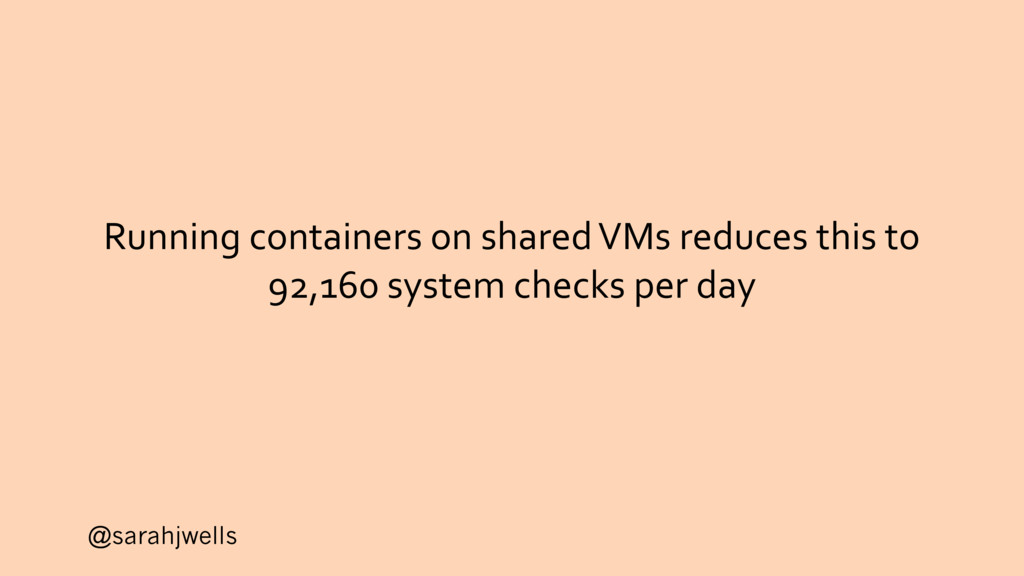 @sarahjwells Running containers on shared VMs r...