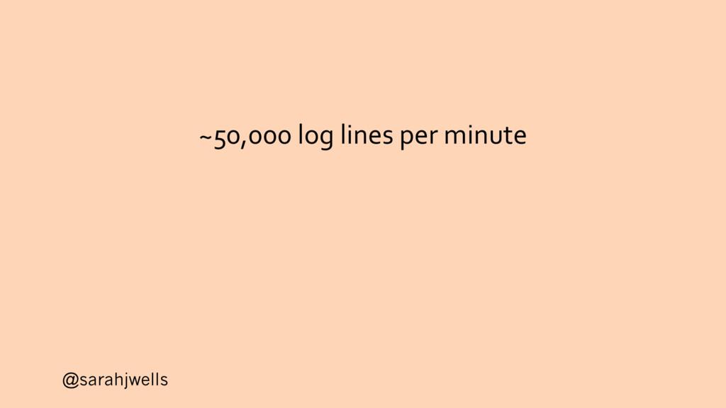@sarahjwells ~50,000 log lines per minute