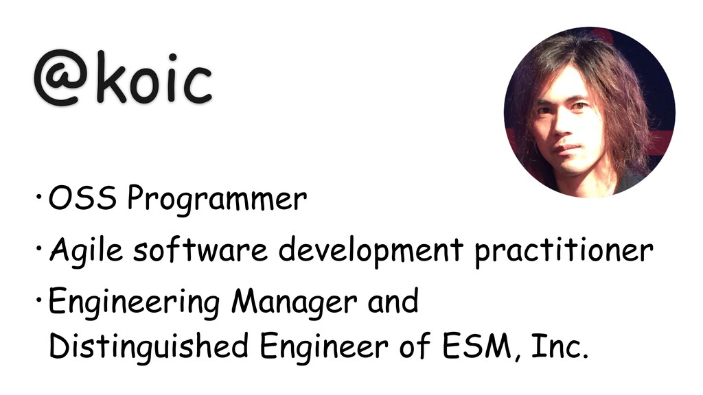 @koic • OSS Programmer • Agile software develop...