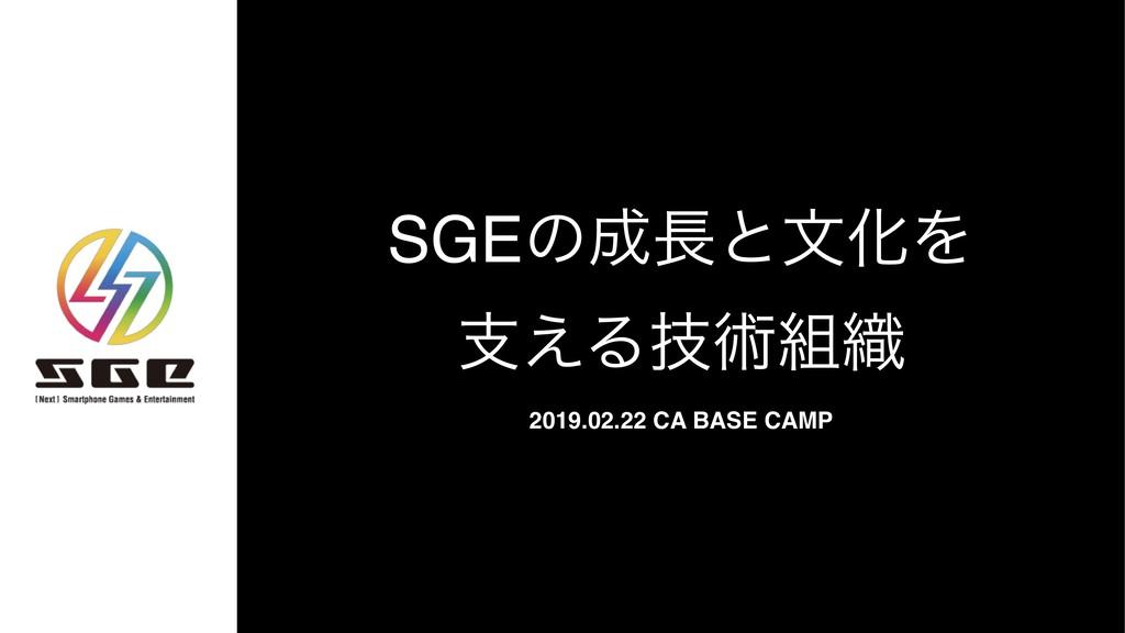 SGEͷͱจԽΛ ࢧ͑Δٕज़৫ 2019.02.22 CA BASE CAMP