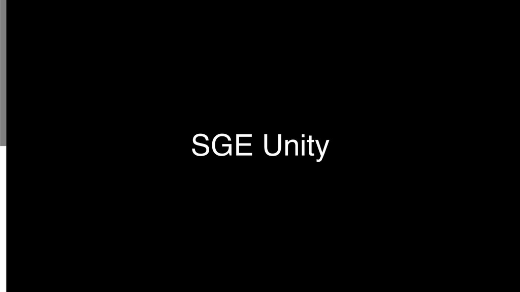 SGE Unity