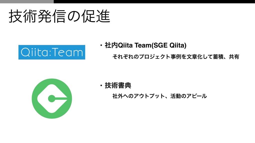 ٕज़ൃ৴ͷଅਐ • ࣾQiita Team(SGE Qiita) ͦΕͧΕͷϓϩδΣΫτྫ...