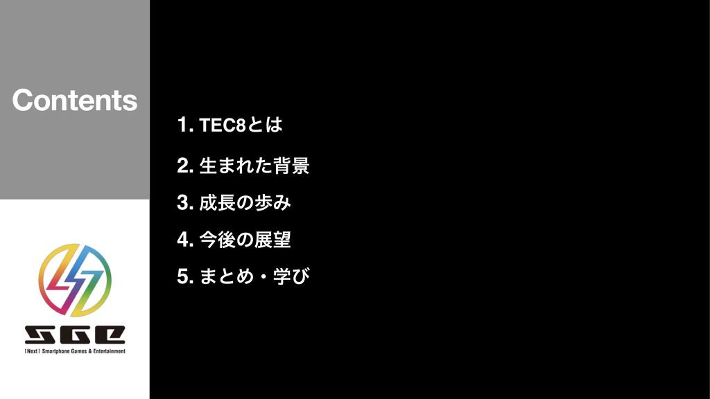 1. TEC8ͱ 2. ੜ·Εͨഎܠ 3. ͷาΈ 4. ࠓޙͷల 5. ·ͱΊɾֶͼ