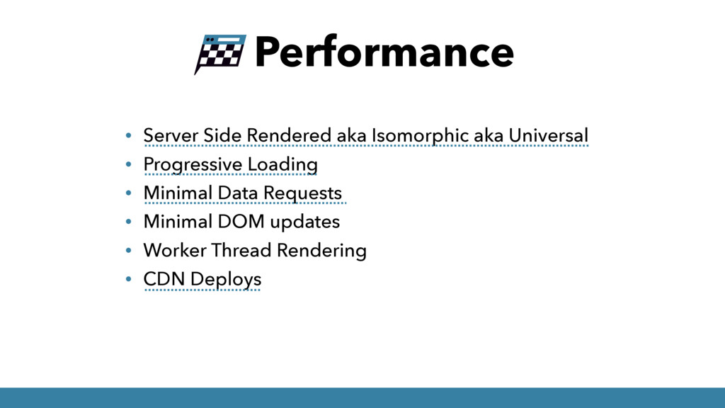 Performance • Server Side Rendered aka Isomorph...
