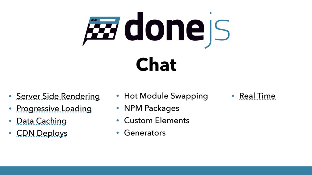 Chat • Server Side Rendering • Progressive Load...