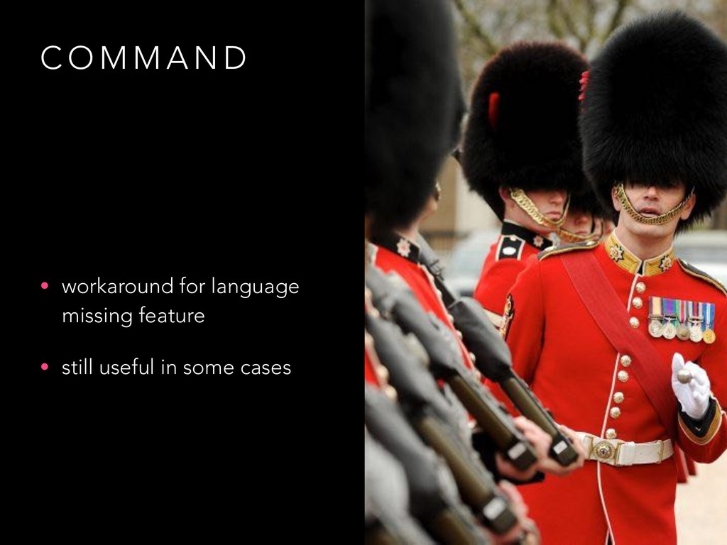 C O M M A N D • workaround for language missing...