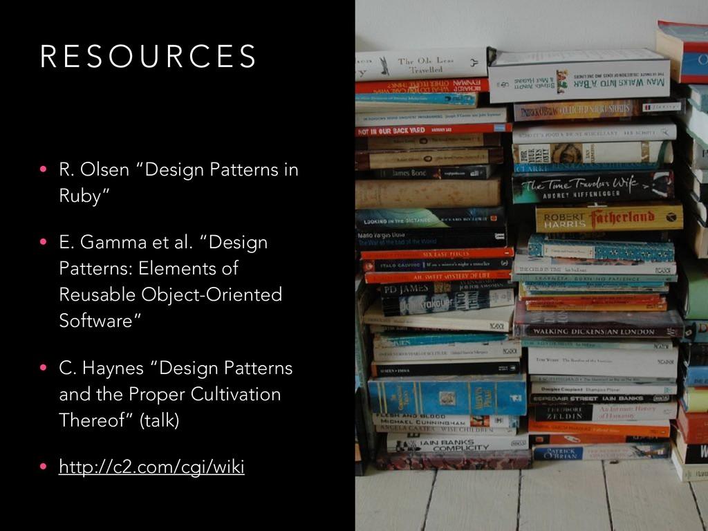 "R E S O U R C E S • R. Olsen ""Design Patterns i..."