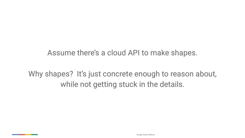 Google Cloud Platform Assume there's a cloud AP...