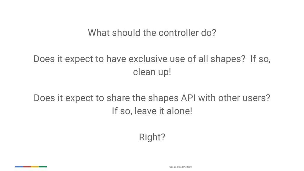 Google Cloud Platform What should the controlle...