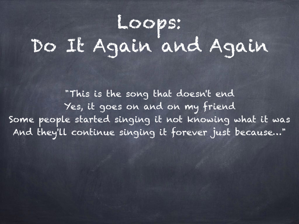 "Loops: Do It Again and Again ""This is the song ..."