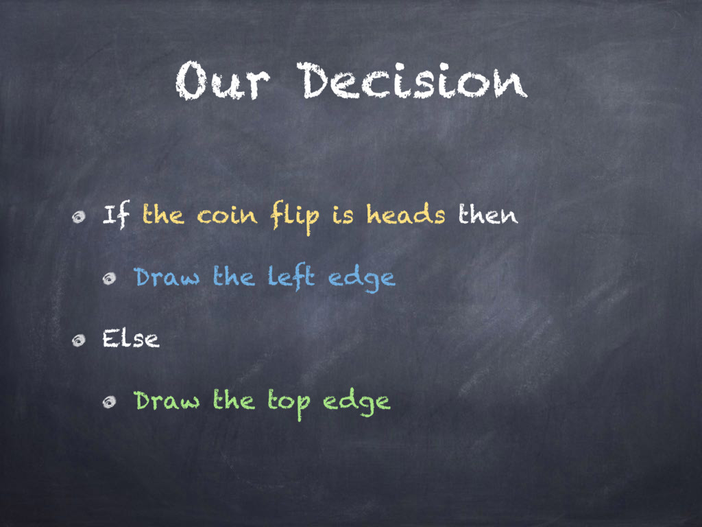 Our Decision If the coin flip is heads then Dra...