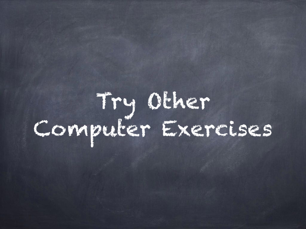 Try Other Computer Exercises