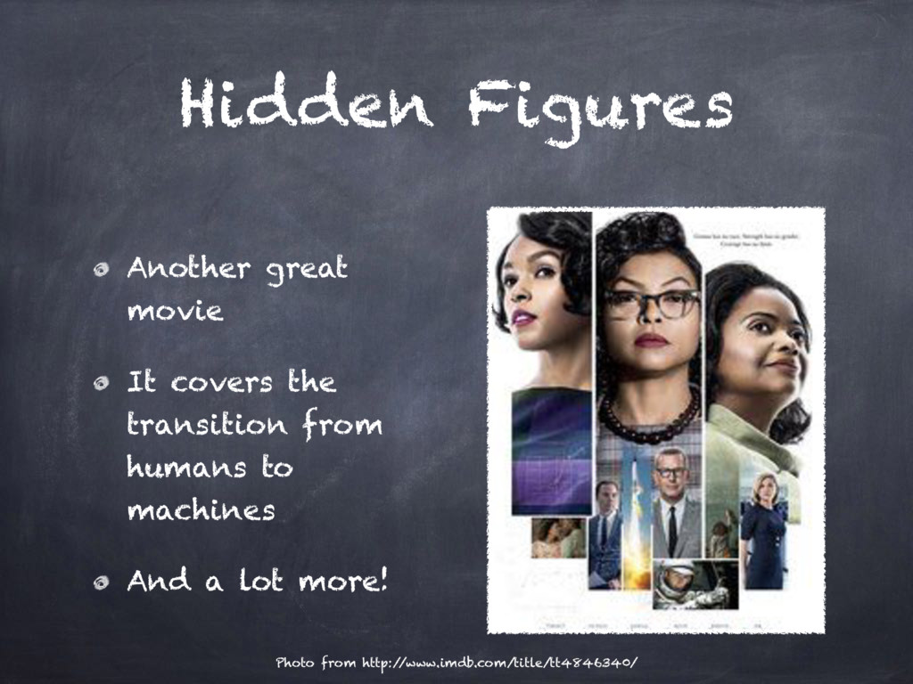 Hidden Figures Another great movie It covers th...