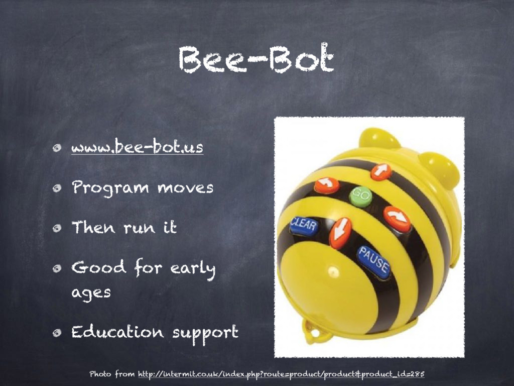 Bee-Bot www.bee-bot.us Program moves Then run i...