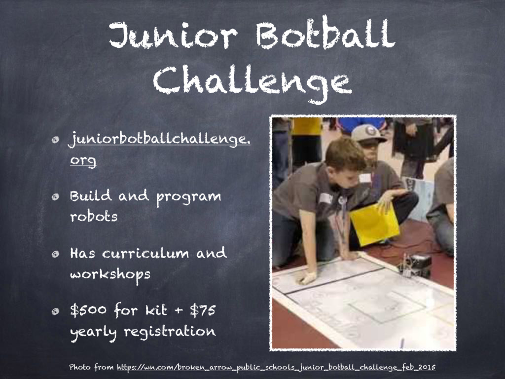 Junior Botball Challenge juniorbotballchallenge...