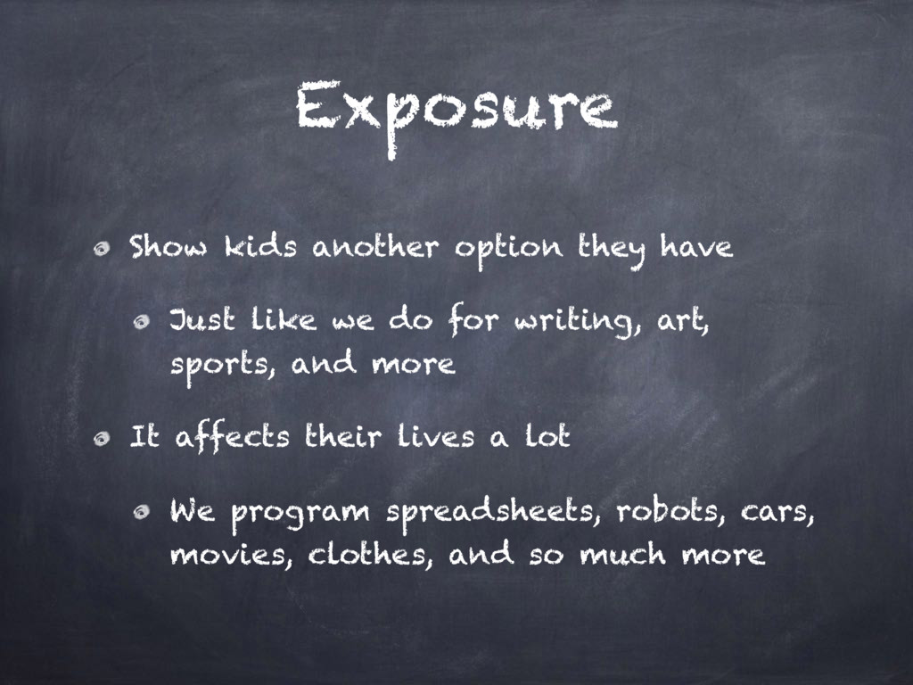 Exposure Show kids another option they have Jus...