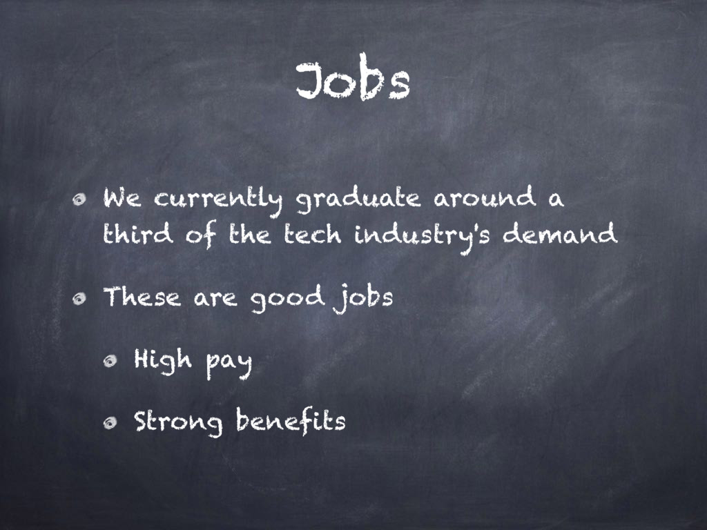 Jobs We currently graduate around a third of th...