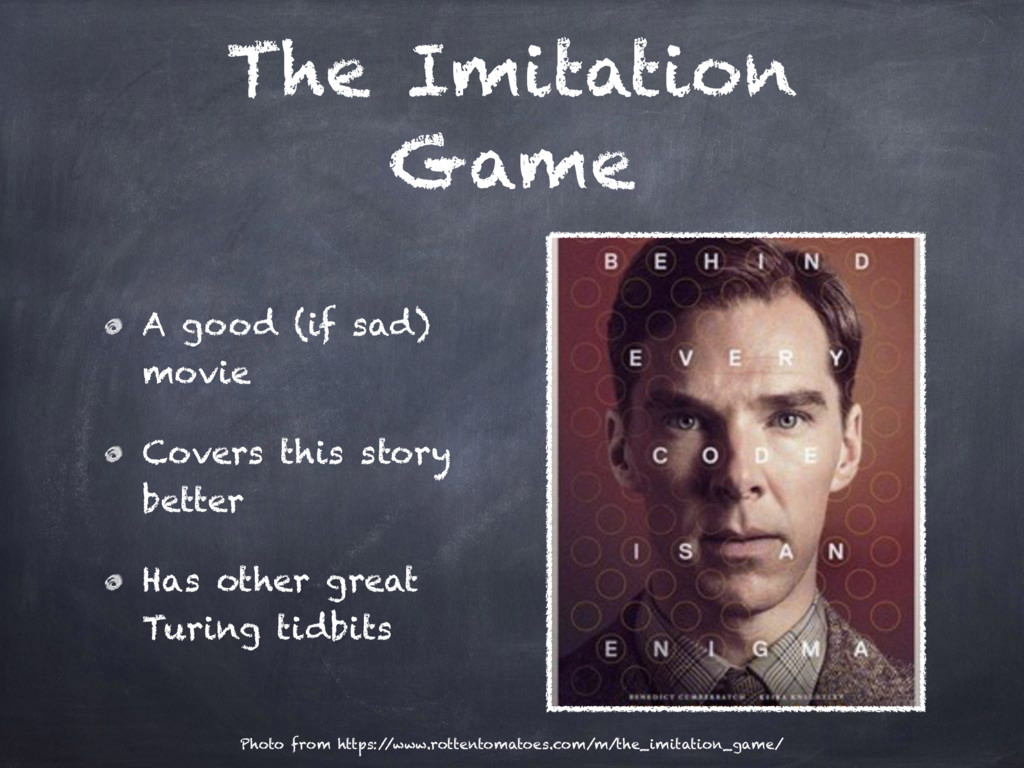 The Imitation Game A good (if sad) movie Covers...