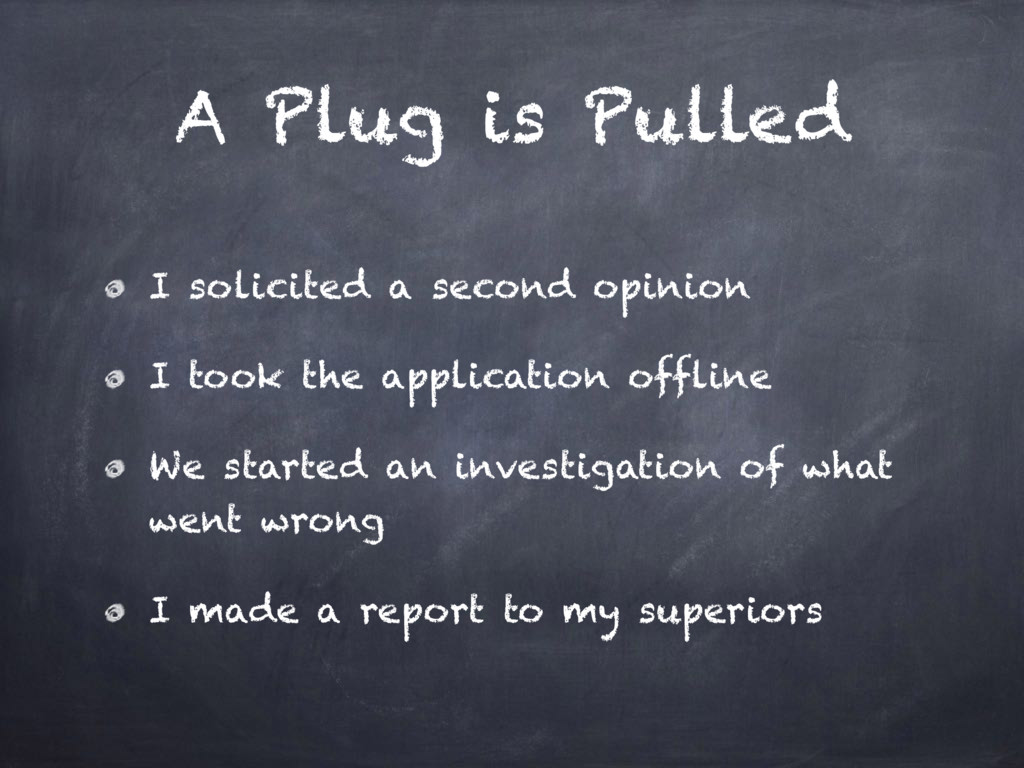 A Plug is Pulled I solicited a second opinion I...