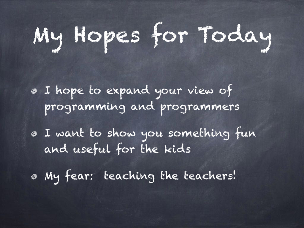 My Hopes for Today I hope to expand your view o...